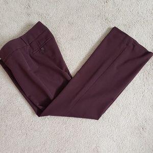 Burgundy Loft marisa 6P pants